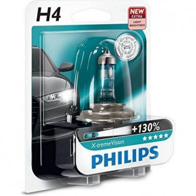 Лампа H4 PHILIPS X-tream  Vision +130% блистер