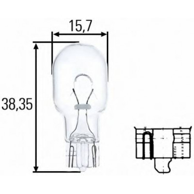Лампа б/ц W16W 12v  Hella