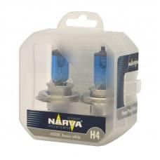 Narva h4 Range pover комплект синих ламп 55w 12v